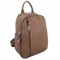 Женский рюкзак из кожи бежевый 6101