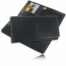 Женский кошелек из кожи ската, цвет: чёрный матовый