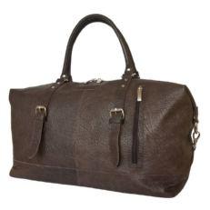 Дорожная сумка из толстой кожи Кампоро коричневая