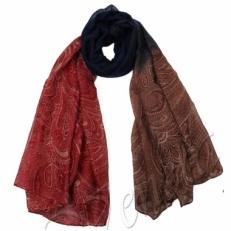 Палантин 6305201 бордово-коричневый