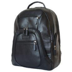 Большой кожаный рюкзак Жерардо черный