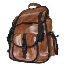 Городской кожаный рюкзак Альпрато рыжий