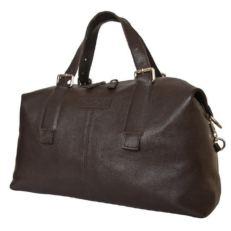 Кожаная дорожная сумка Арденно коричневая
