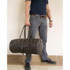 Дорожно спортивная кожаная сумка Бельфорте