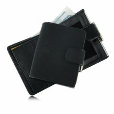 Женский бумажник из кожи ската, цвет: черный матовый