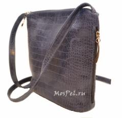 Женская сумка 3503 blue crоcco
