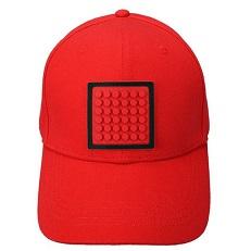 Красная бейсболка Funny square WY-U18-H001