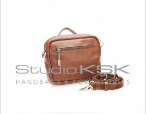 Кожаная коричневая сумка женская для документов 7501
