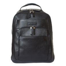 Кожаный мужской рюкзак Монфестино черный фото-2