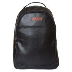 Большой черный кожаный рюкзак Фальтона