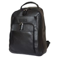 Кожаный мужской рюкзак Монфестино черный