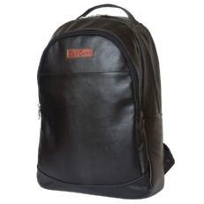 Большой черный кожаный рюкзак Фальтона фото-2