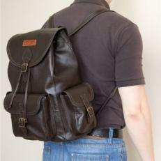 Корчневый кожаный рюкзак-торба Веррес