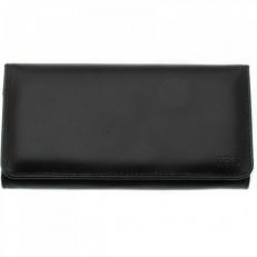 Женский кожаный кошелек Vito черный