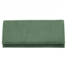 Женский кожаный кошелек Falco зеленый