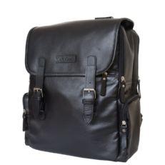 Кожаный рюкзак Сантерно черный