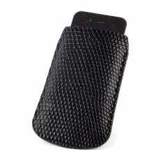 Чехол для iPhone из кожи варана, цвет: черный