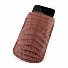 Чехол для iPhone из кожи каймана, цвет: коричневый матовый