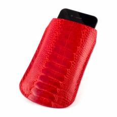 Чехол для iPhone из кожи ноги страуса, цвет: красный