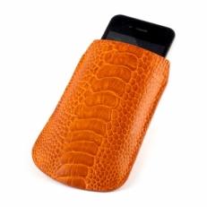 Чехол для iPhone из кожи ноги страуса, цвет: светло-коричневый