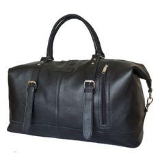 Дорожная сумка из натуральной кожи Кампоро черная