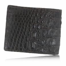Мужской бумажник из кожи крокодила, цвет: шоколад фото-2
