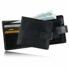 Мужской кошелек из кожи варана, цвет: черный