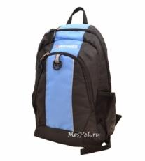 Рюкзак 17222315 черно-голубой