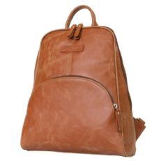 Рыжий женский кожаный рюкзак Эстенс