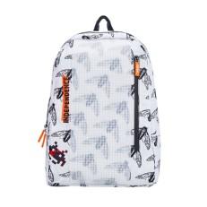 Рюкзак пиксельный белый с принтом мухи