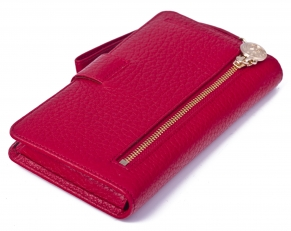 Кожаное портмоне 9242 N.Polo Red фото-2