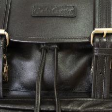 Кожаный рюкзак Волтурно черный фото-2