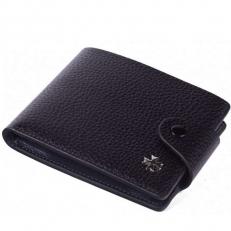Кожаное портмоне Narvin 9651 N.Polo Black/D.Blue