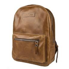Женский кожаный рюкзак Анцолла рыжий