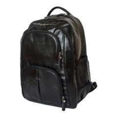 Кожаный деловой рюкзак Ривароло черный