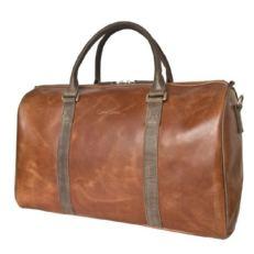 Кожаная дорожная сумка Ноффо коричневая