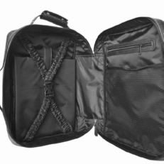 Дорожная сумка рюкзак из кожи Катиллон черная фото-2