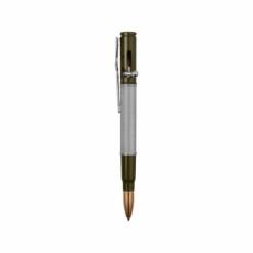 Серебряная ручка шариковая с нажимным механизмом R012100