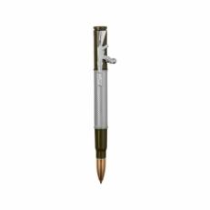 Серебряная ручка шариковая с нажимным механизмом R013100