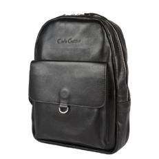 Женский рюкзак из натуральной кожи Аннико черный