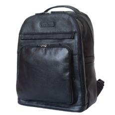 Кожаный рюкзак Монтегротто черный