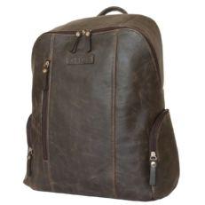 Городской кожаный рюкзак Версола коричневый