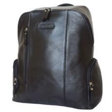 Городской кожаный рюкзак Версола черный