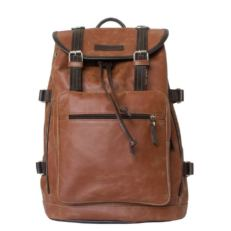 Кожаный рюкзак-торба Волтурно рыжий фото-2