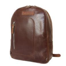 Кожаный рюкзак Альбера коричневый