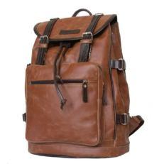 Кожаный рюкзак-торба Волтурно рыжий