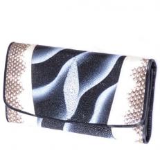 Женский кошелек из кожи ската и змеи