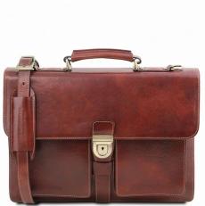 Assisi - Кожаный портфель на 3 отделения