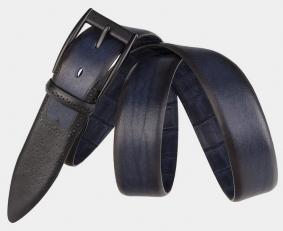 Брючный ремень AT35-111 синий