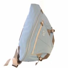 Однолямочный рюкзак голубой